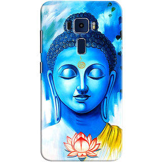 Sketchfab Budha PREMIUM LATEST DESIGNER PRINTED COVER SERIES For Asus Zenfone 3 ZE550KL Mobile Phone With PROTECTIVE SLIM LIGHT HARD MATTE FINISH BACK CASE And EMBEDDED Features