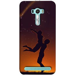 FUSON Designer Back Case Cover For Asus Zenfone Selfie ZD551KL (Milky Way Stars Love Couples Lovers Family Love)