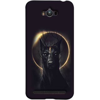 FUSON Designer Back Case Cover For Asus Zenfone Max ZC550KL :: Asus Zenfone Max ZC550KL 2016 :: Asus Zenfone Max ZC550KL 6A076IN (Doubles As An Aureola Suggesting The God Black Dog)