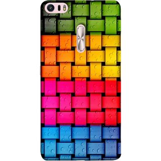 FUSON Designer Back Case Cover For Asus Zenfone 3 Ultra ZU680KL (6.8 Inch Phablet) (Bright And Beautiful Colour Strips And Band Glossy)