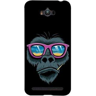 FUSON Designer Back Case Cover For Asus Zenfone Max ZC550KL :: Asus Zenfone Max ZC550KL 2016 :: Asus Zenfone Max ZC550KL 6A076IN (Pink  Toothpick Smoking Drawing Design)