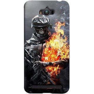 FUSON Designer Back Case Cover For Asus Zenfone Max ZC550KL :: Asus Zenfone Max ZC550KL 2016 :: Asus Zenfone Max ZC550KL 6A076IN (Golden Division  Masks Iraqi Special Forces )