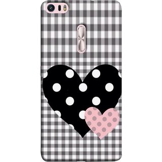 FUSON Designer Back Case Cover For Asus Zenfone 3 Ultra ZU680KL (6.8 Inch Phablet) (Two Hearts Towels Pink Love Lovers Small Checks )