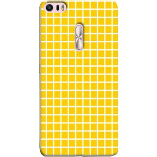 FUSON Designer Back Case Cover For Asus Zenfone 3 Ultra ZU680KL (6.8 Inch Phablet) (Icons Abstract Motion Made Of Yellow Squares)