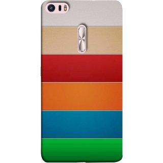FUSON Designer Back Case Cover For Asus Zenfone 3 Ultra ZU680KL (6.8 Inch Phablet) (Rainbow Colours Bright Bands Red Orange Blue)