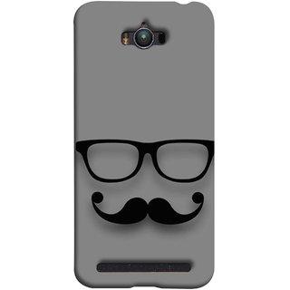 FUSON Designer Back Case Cover For Asus Zenfone Max ZC550KL :: Asus Zenfone Max ZC550KL 2016 :: Asus Zenfone Max ZC550KL 6A076IN (Mustache Glasses T-Shirt Young Boys Back Cover)