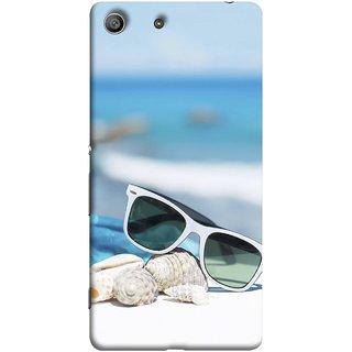 FUSON Designer Back Case Cover For Sony Xperia Z3 :: Sony Xperia Z3 Dual D6603 :: Sony Xperia Z3 D6633 (Summer Vacation Beach Mobile Wallpaper Blue Sky )