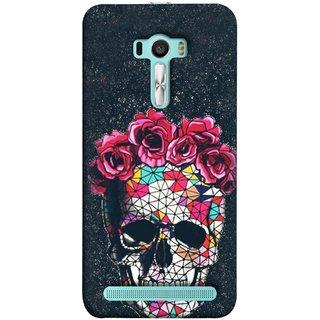 FUSON Designer Back Case Cover For Asus Zenfone Selfie ZD551KL ( Khopdi Kavti Gulab Lal Safed White )