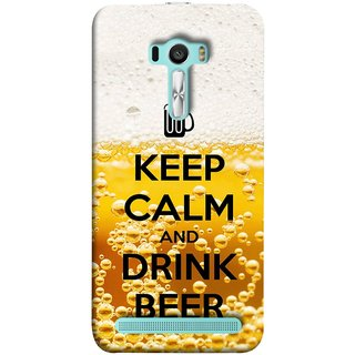 FUSON Designer Back Case Cover For Asus Zenfone Selfie ZD551KL (Beer Sign Glasses Bubbles Daaru Drink Wine Vodka)