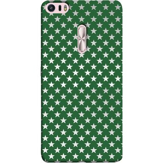 FUSON Designer Back Case Cover For Asus Zenfone 3 Ultra ZU680KL (6.8 Inch Phablet) (Small Lot Of Stars Green Back Shining Glossy)