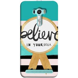 FUSON Designer Back Case Cover For Asus Zenfone Selfie ZD551KL (Trust Your Self Winner 1St Prize Successful)