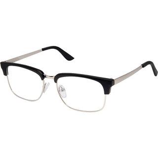 Cardon Matte Black Silver Clubmaster Full Rim EyeGlass