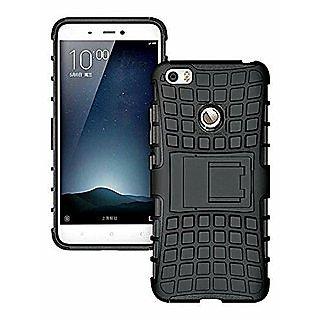 Defender Kickstand Back Cover Case For Oppo F5 F 5 Mobile Phone ( Black Color )