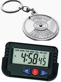 Combo 50 Yr +Digital Alarm Clock For Cars