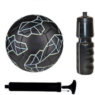 8120f6ee2 Buy Kit of Messi Black Football (Size-5)with Air Pump   Sipper ...