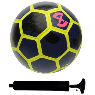 a34fb9a47 Buy Kit of Strike X Blue Yellow Football (Size-5) with Air Pump ...