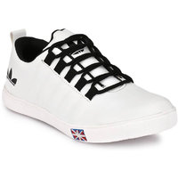 S37 Men's White Synthetic Casual Shoes
