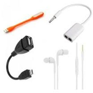 Combo of 4 Piece Mobile Accessory for Mobile, Laptop, Desktop, Tablet.