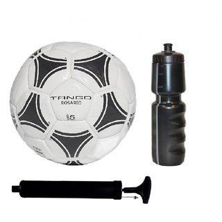 be86d9a84 Buy Kit of Tango Black   White Football (Size-5)with Air Pump   Sipper  Online   ₹1999 from ShopClues