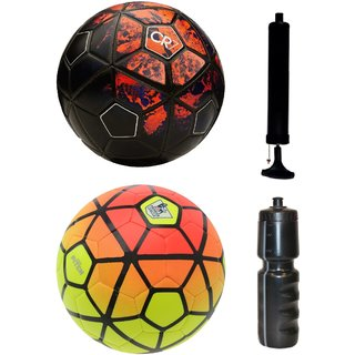 Kit of CR7 Black/Red + Ordem Pitch Orange/Yellow with Air Pump & Sipper