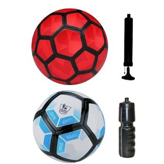 Kit of Strike Duro Red + Laliga Blue/White with Air Pump & Sipper