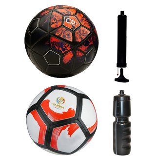 Kit of CR7 Black/Red + Pitchciento Cope America Centenario with Air Pump & Sipper