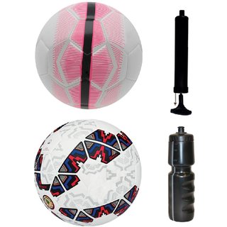Kit of Mercurial White/Pink + Cachana Cope America 2015 with Air Pump & Sipper