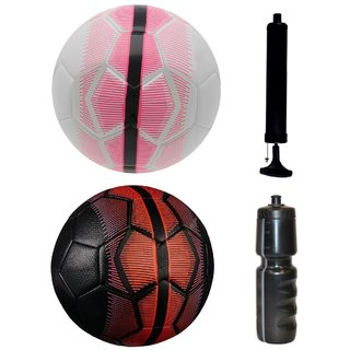 Kit of Mercurial White/Pink + Mercurial Black/Red with Air Pump & Sipper