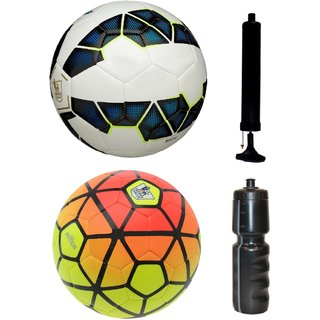 Kit of Premier League Blue/White + Ordem Pitch Orange/Yellow with Air Pump & Sipper