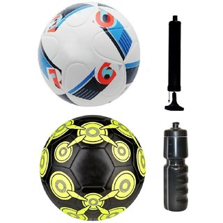 67bad5e24 Buy Kit of UEFA Euro2016 France Football + Glider Black Football (Size-5) -  Pack of 2 Balls with Air Pump   Sipper Online   ₹1999 from ShopClues