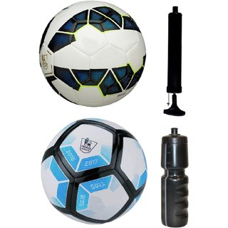 Kit of Premier League Blue/White + Laliga Blue/White with Air Pump & Sipper