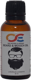OSE Luxurious and Aromatic Beard Mooch Oil For- Hair Growth Repair, Faster beard growth oil, Demaged hair (30ml)