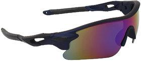 Zyaden Blue Mirrored Sports Boy's Sunglasses