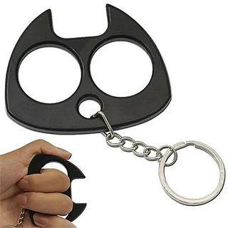 Buy Brass Cat Knuckle Duster Self Defense Keychain Best Safety