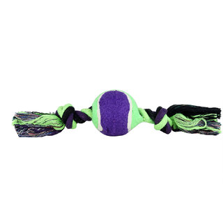 W9 High Quality Tennis Ball Cotton Rope Toy For Puppy-Small-11 Inch (Purple)