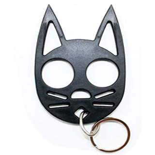 Brass Kitty Knuckle Duster Self Defense Keychain For Women Safety