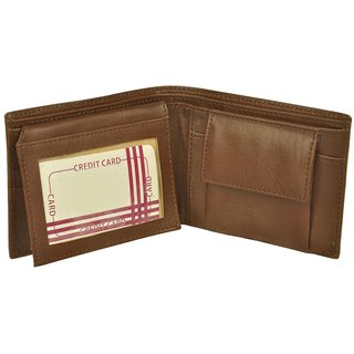 e8b37f7f41fc Buy Stylish Brown Genuine Leather Wallet Online - Get 67% Off