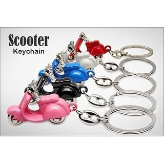 Scooter Keychain Funny 3D Motor Bike Key Chain Ring Keyring