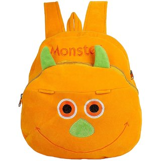 Say Basket Kids School Bags Designer School Bags for Girls Plush Bags Soft  Toy Picnic Backpack Happy Monster Yellow