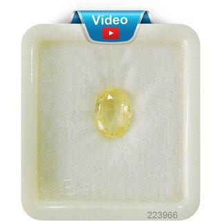 A1 Gems 6.25 ratti pukraj stone yellow sapphire stone genuine yellow Gemstone