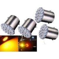 Allyours 4 x 22-SMD LED Universal Bike Amber Indicator Light Bulb Lamp