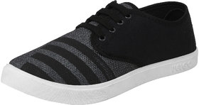 Earton Men Black-725 Sports Running Shoes