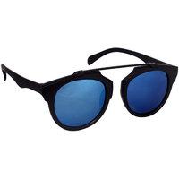 HH Blue Mirrored Unisex Wayfarer Sunglasses