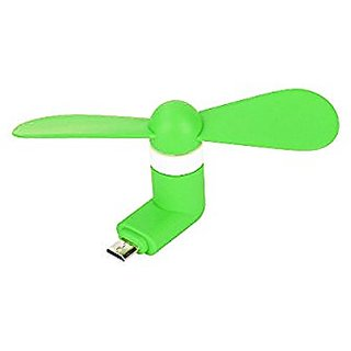 Micro USB V8 Mini Fan (Green Color) by KSJ Accessories