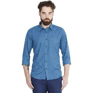 Jdc Urban Fit Men'S Green Color Cotton Shirts