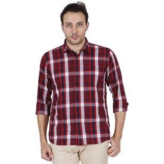 Jdc Urban Fit Men'S Red Color Cotton Shirts