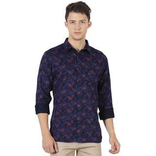 Jdc Urban Fit Men'S Dark Blue Color Cotton Shirts