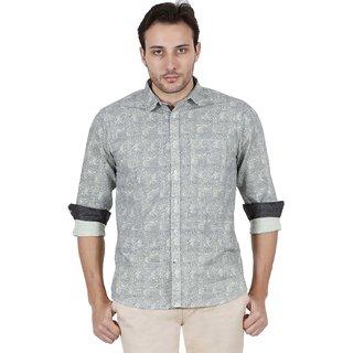Jdc Urban Fit Men'S Light Green Color Cotton Shirts