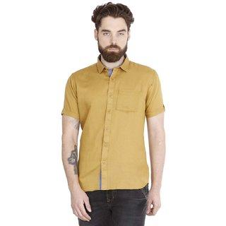 Jdc Urban Fit Men'S Brown Color Cotton Shirts