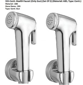 SSS - ABS Chrome Finish Health Faucets for Bathroom (Only Gun) (Set of 2 pcs)
